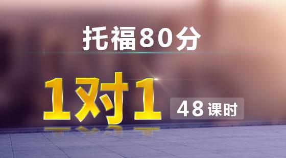 托福80分 VIP 1对1课程【48课时】